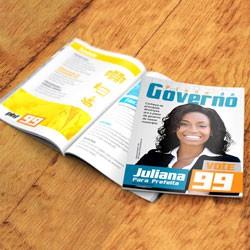 08- Plano de Governo 8 Páginas | 21x29,7mm | Couché Brilho 115g | 4x4 | Sem Cobertura | 10.000 unid