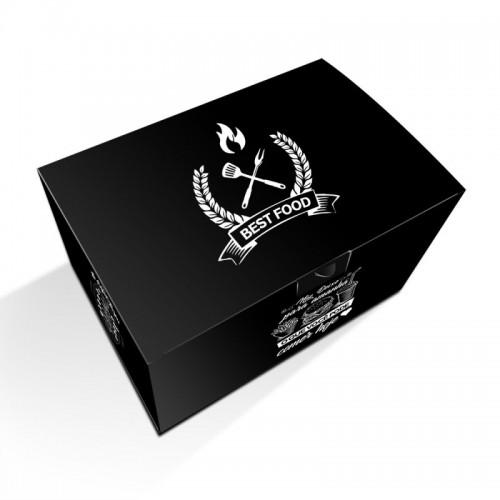 11- Embalagens Hamburguer Gourmet | 12x18x10 cm | Duplex 250g | 4x0 cores | Sem Verniz | 500 Unid.