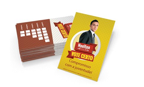 18- Cartão Colinha - 4x4 - Sem Verniz - Couche 115g - 250.000 unid