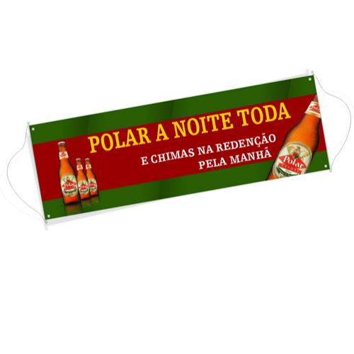 09- Faixa Promocional - Lona 280g - 4x0 - 80x500cm